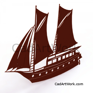 Dxf sailing ship