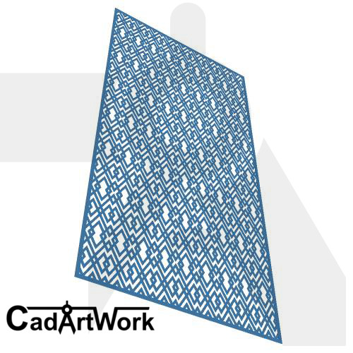Rhomb Dxf Screen Design