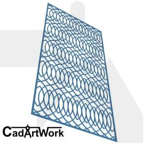 Oval cut screen design