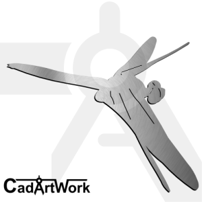 Dragonfly laser cut design