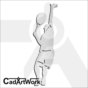 Tennis Man Dxf Clip Art