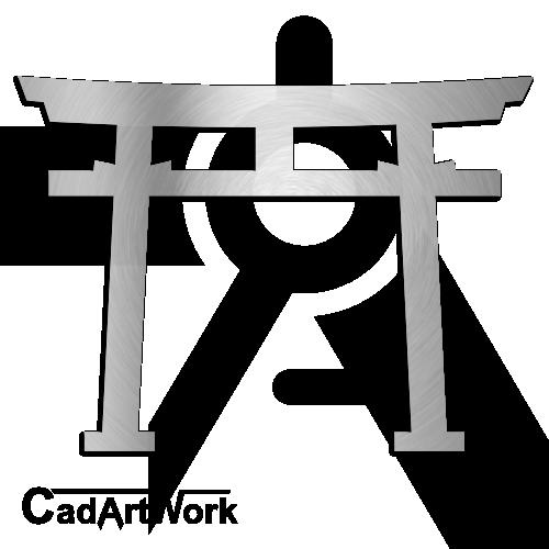 Japanese Gate Dxf Clip Art