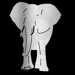 Elephant Front Dxf Clip Art