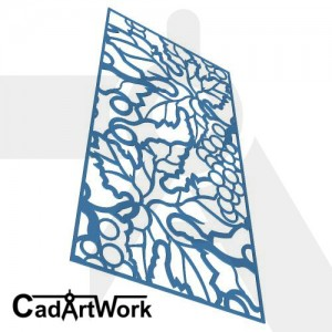 Grape vine decorative screen panel 4