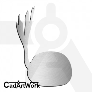 Coconut seed dxf artwork