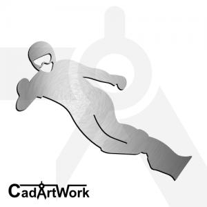 snowboard dxf laser cut clip art - cadartwork.com