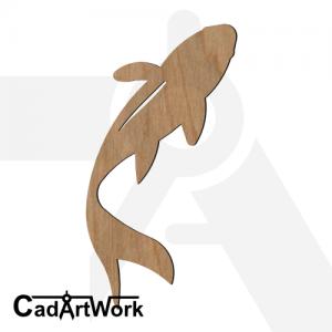 fish 16 dxf artwork - cadartwork.com