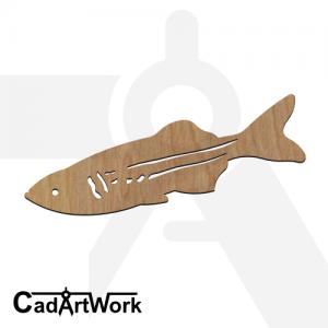 fish 18 dxf artwork - cadartwork.com