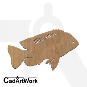 fish 25 laser cut file - cadartwork