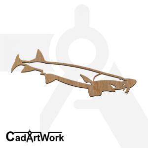 fish 23 dxf artwork - cadartwork