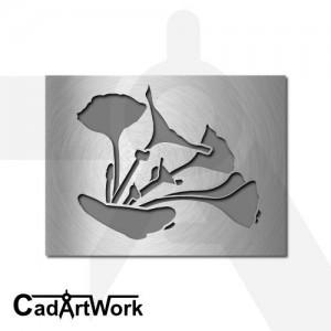 Ginko wall art design - cadartwork.com