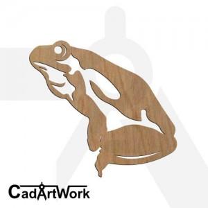 Frog dxf clip art
