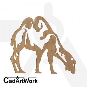 Camel dxf clip art