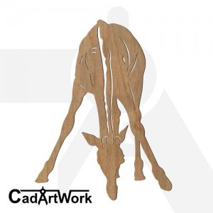 giraffe 2 dxf art