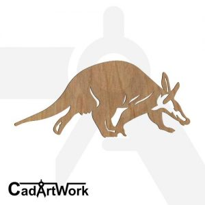 Aadvark 2 laser cut art
