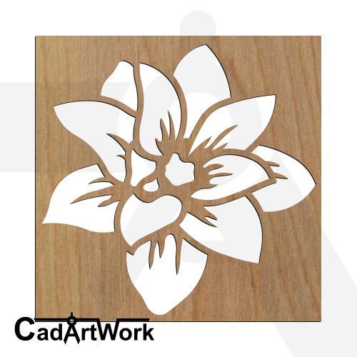 Lotus stencil art