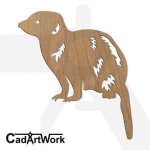 meerkat laser cut design