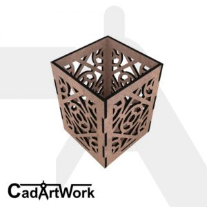 Laser cut candle holder plan