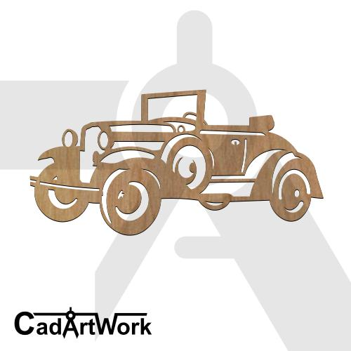 Classic car dxf pattern