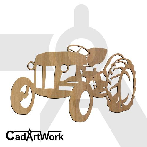 tractor dxf art