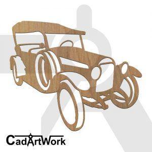 Classic car 3 dxf art