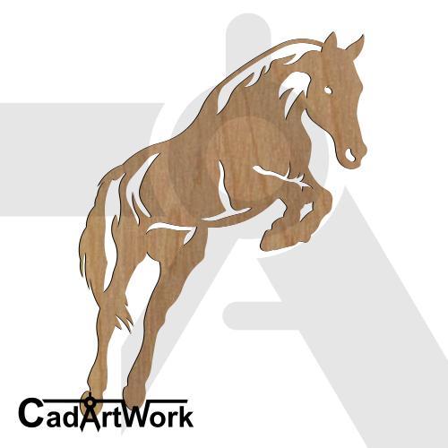 jump-horse-3 dxf artwork
