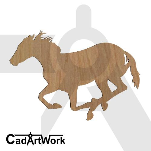 Horse run dxf art