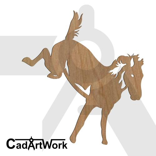 Horse jumo dxf art