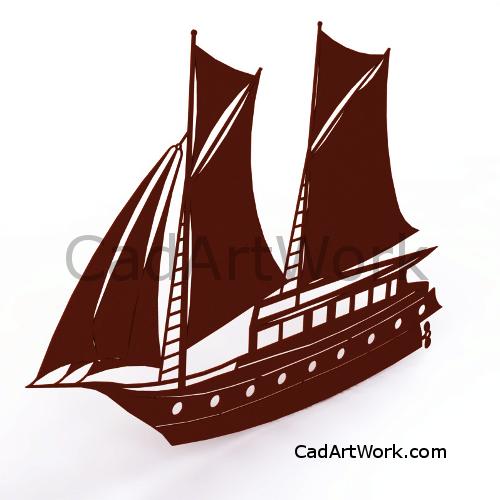 Dxf sailing ship