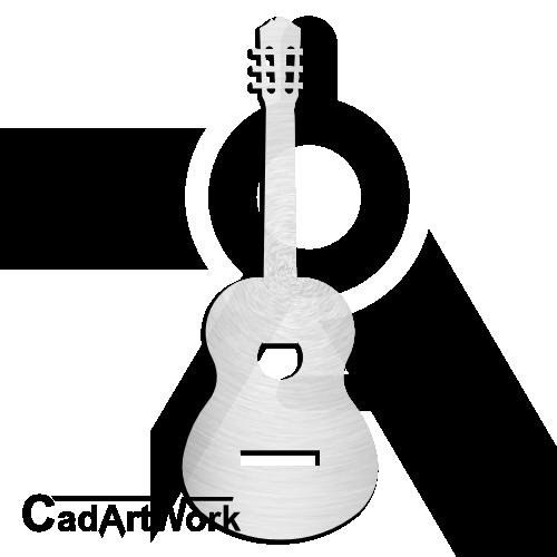 Classic Guitar Dxf Clip Art