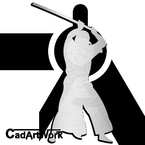 Kenjutsu Dxf Clip Art
