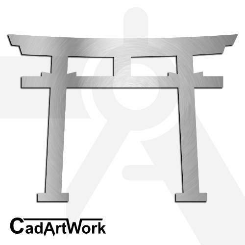 Japanese Gate Dxf Clip Art