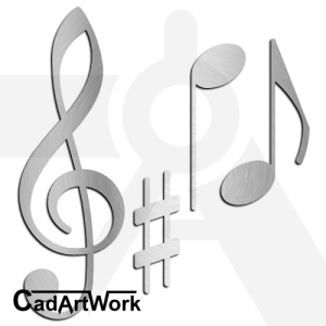 Music Notations Dxf Clip Art
