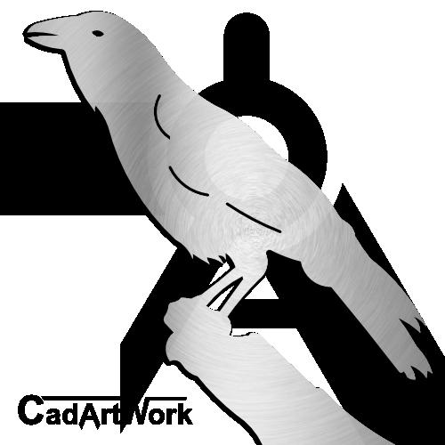 Crow Dxf Clip Art