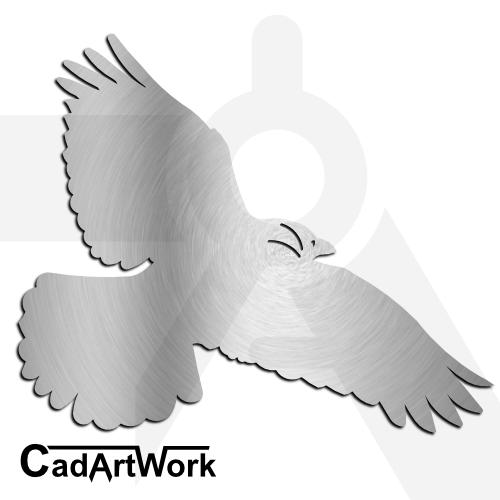 Flying Bird Dxf Clip Art