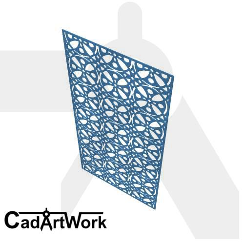Star flower dxf pattern design