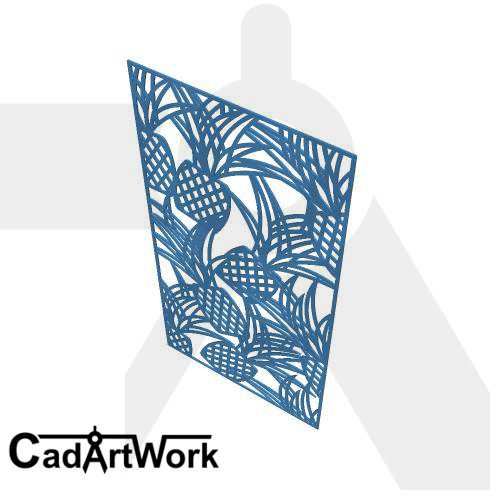 Pineaple Dxf Pattern Design