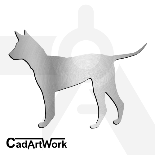 Dog dxf clip art