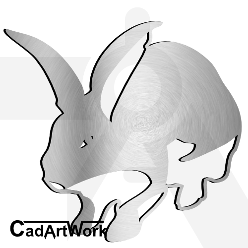 Rabbit dxf artwork