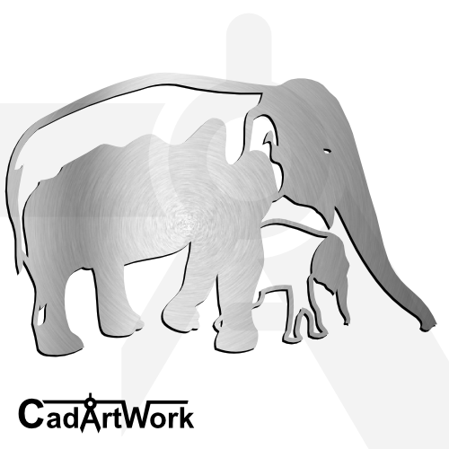 Elephant family dxf artwork