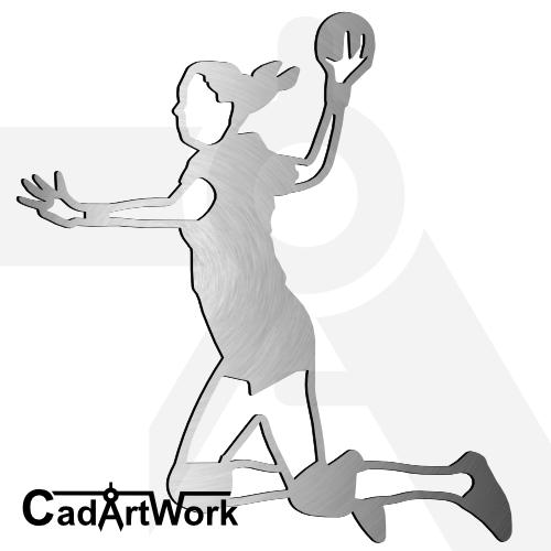 Handball dxf artwork