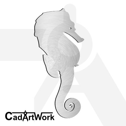 Seahorse dxf artwork