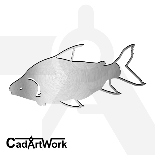 Fish 3 dxf artwork