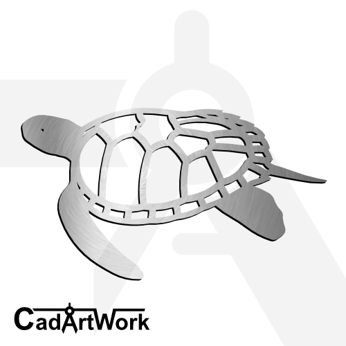 Turtle 3 dxf artwork