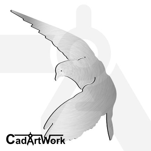 Flying pigeon dxf artwork