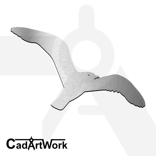 Flying bird laser cut file