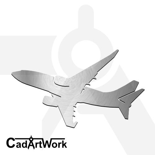 Commercial plane cadartwork