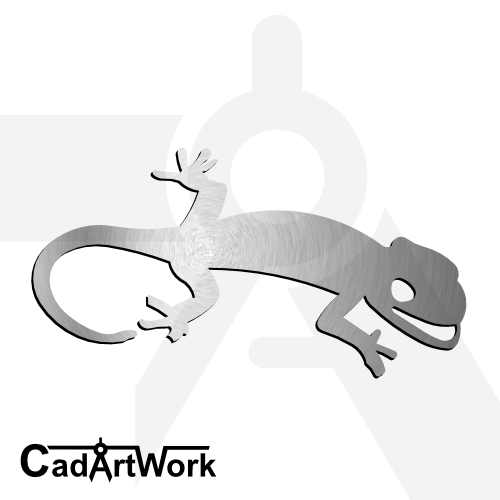 Gecko dxf artwork |cadartwork