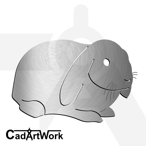 Rabbit dxf artwork | cadartwork