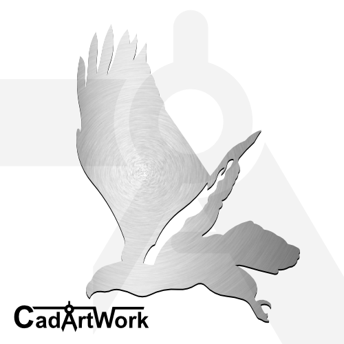 Eagle laser cut file | cadartwork.com